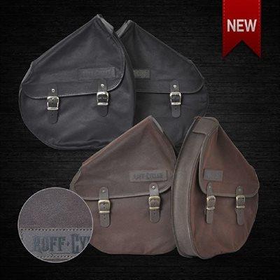 Saddle bag slim brown single